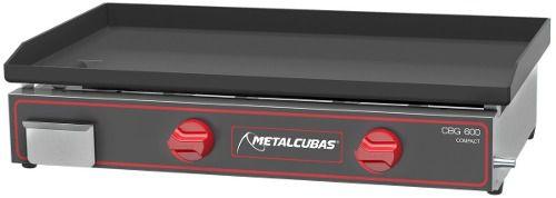 Chapa Sanduíche Prensa 60x46cm Metalcubas Cbg600l Gás