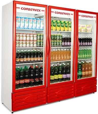 Expositor Refrigerado Conservex ERV 1300 Litros Vermelho