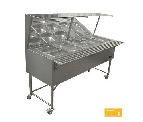 Self Service Refrigerado Encosto Fritomaq 4 Cubas 148x60
