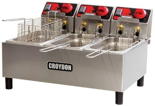 Fritadeira Tripla Croydon Fc3a Elétrica 3x3 Litros