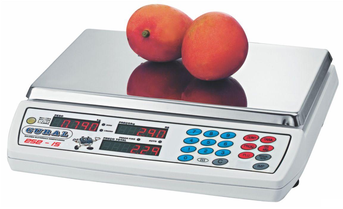 Balança Eletrônica 15kg Gural Ese15 Sem Bateria