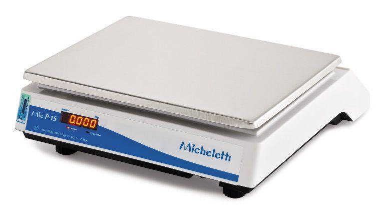 Balança Eletrônica 15Kgs Micheletti MICP15 Led Prato de 25x33cm