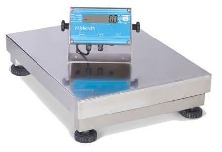 Balança Eletrônica Micheletti MIC300 Total Inox 60x80 S/C 300Kg