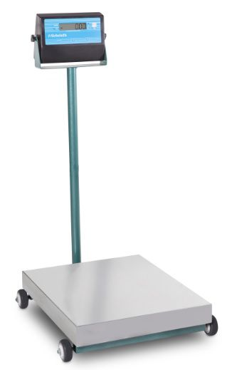 Balança Móvel Com Rodas Bateria Micheletti MIC 100Kgs Prato Inox 40x50 C/C