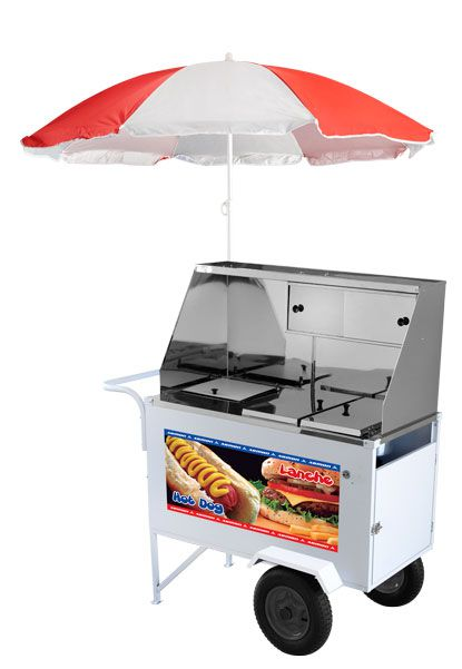 Carrinho Hot Dog e Lanche Luxo Armon XDLP008 Inox