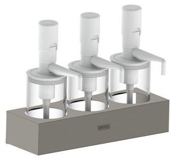 Dispensador de Molhos com 3 Depósitos Universal DISP3P1000