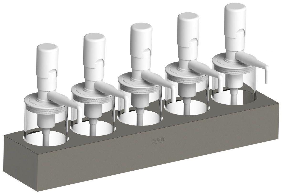 Dispensador de Molhos com 5 Depósitos Universal DISP5P1000