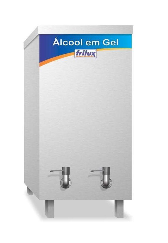 Dispenser para Álcool em Gel 20 Litros Aço Inox Frilux DF20