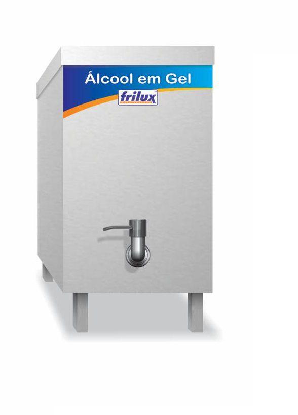 Dispenser para Álcool em Gel 5 Litros Aço Inox Frilux  DF5