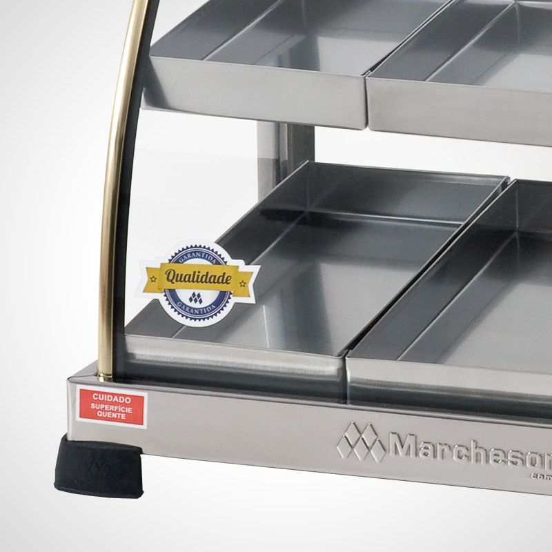 Estufa Dupla Prata de 10 Bandejas Marchesoni Elétrica