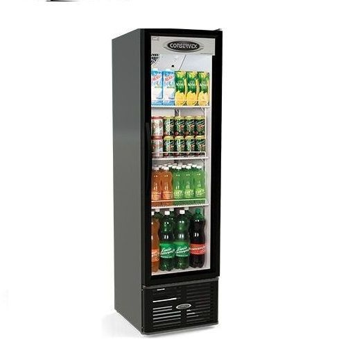 Expositor Refrigerado Conservex ERV 250 Litros Preto