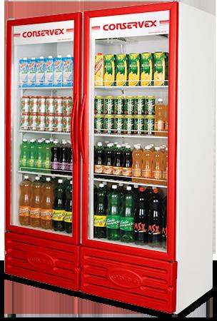 Expositor Refrigerado Conservex ERV 850 Litros Vermelho