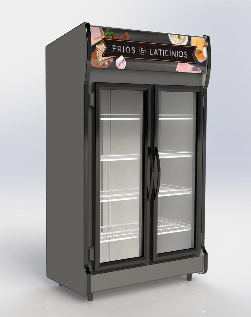 Expositor Vertical Conservex AS2E de 2 Portas 700 Litros