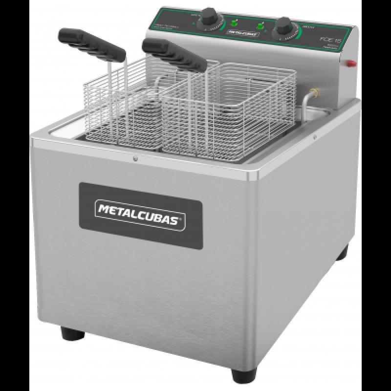 Fritador elétrico Metalcubas óleo de mesa FOE15M