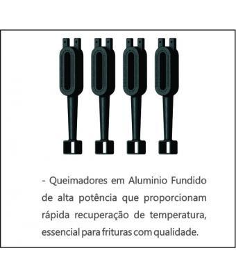 Fritador Industrial Metalcubas FOG2C a gás 30 Litros