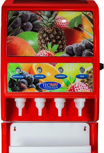 Máquina Automática de Suco Post Mix de 4 Sabores Tecapply