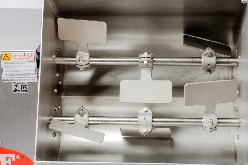 Misturadeira De Carne 110 Litros Caf M120 Trifásica Total Inox 2 Cv