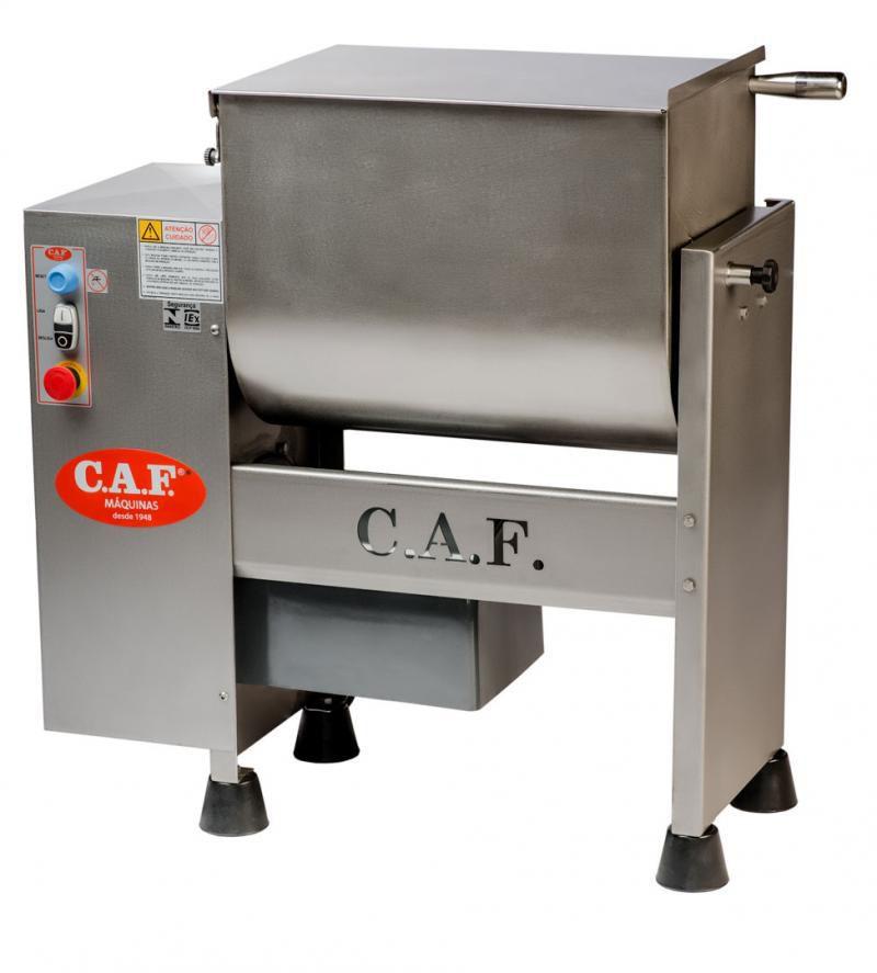 Misturadeira De Carne 60 Litros Trifásica Caf M61 Total Inox 1 Eixo