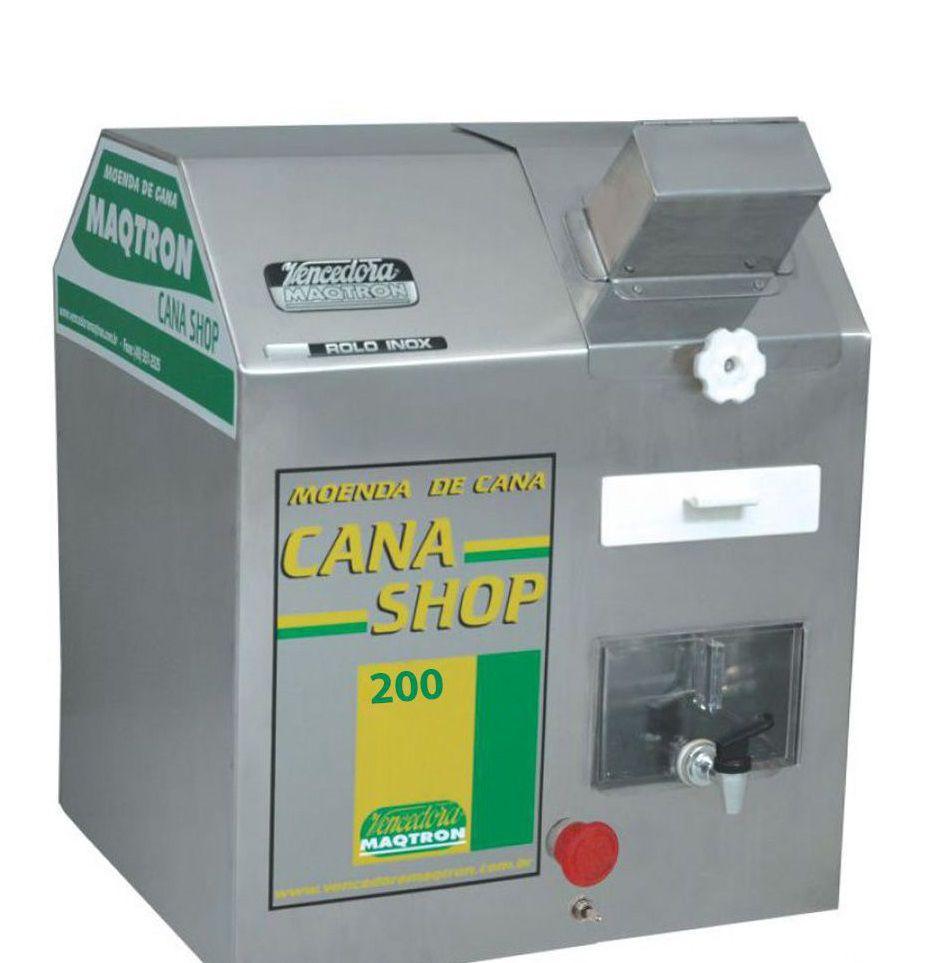 Moenda De Cana com 3 Rolos de Inox Maqtron Shop200 Elétrica