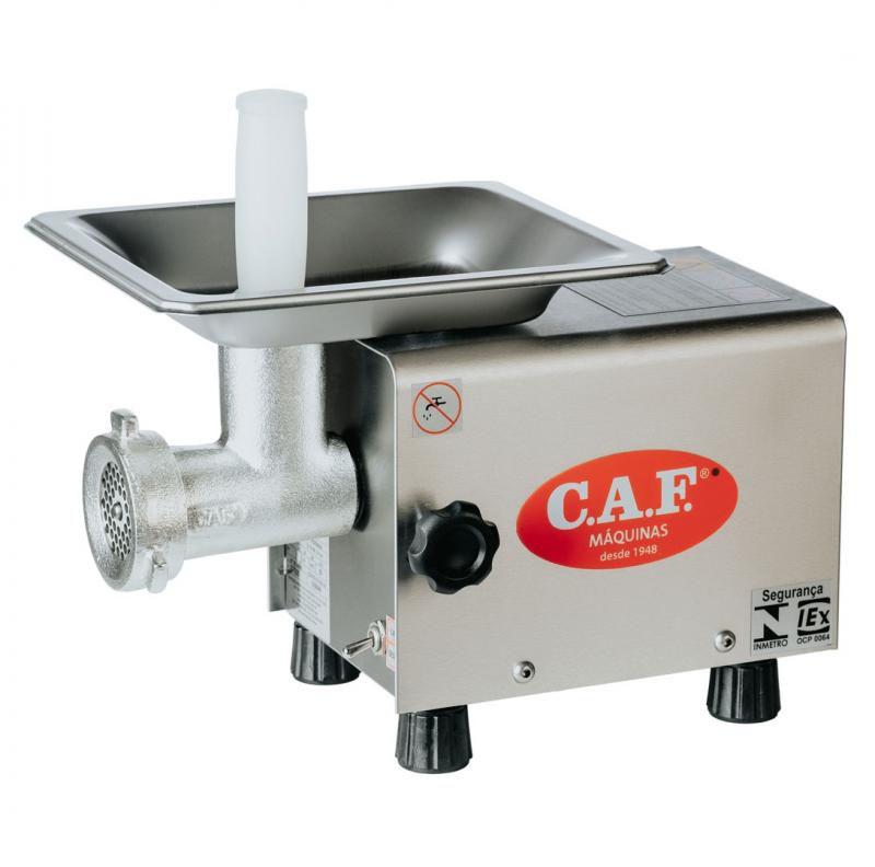 Picador De Carne Eletrônico Monofásico Caf Boca 5 Inox