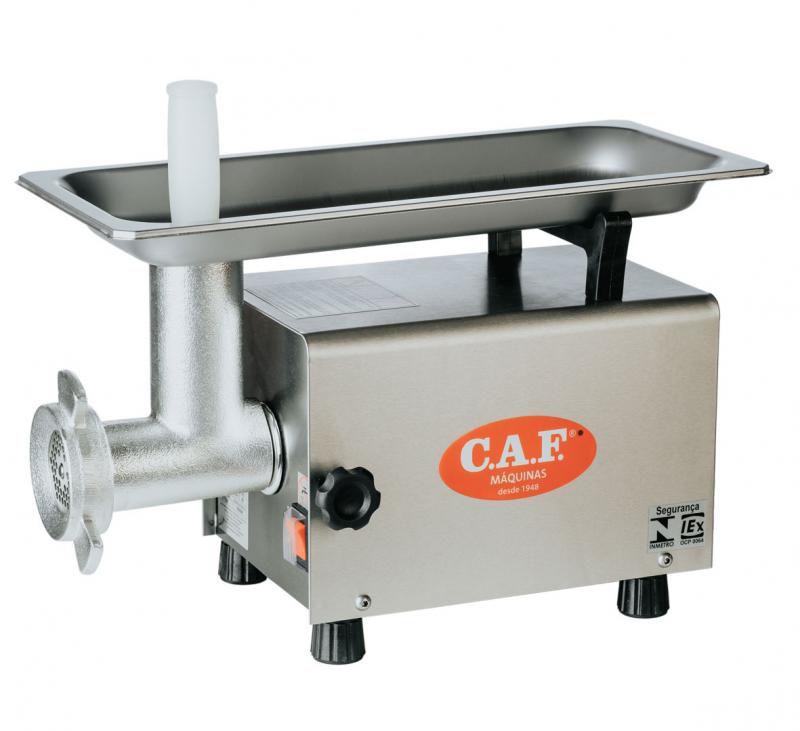 Picador De Carne Eletrônico Monofásico Caf Boca 8 Inox