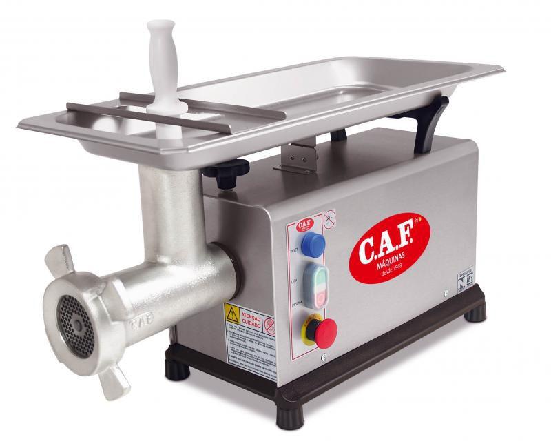 Picador de Carne Eletrônico Trifásico Caf Boca 22 Inox