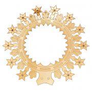 Auréolas com Estrelas e Leds - fabricada em latão