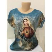 Camiseta estampa Sagrado Coração de Maria