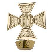 Cruz para Dedicação, confeccionada em latão fundido - dimensões 21x117cm