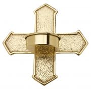 Cruz para Dedicação, confeccionada em latão fundido - dimensões 20x20cm