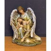 Imagem Anjo acolhendo Jesus caido - em resina - 18x16cm