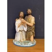 Imagem Batismo de Jesus - em resina - 21cm