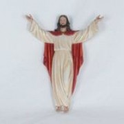 Jesus Ressuscitado - 40cm - de parede - resina