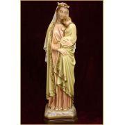 Nossa Senhora da Sabedoria colorida - em resina - 43cm