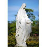 Nossa Senhora das Graças branca - 130cm - fabricada em resina e pó de marmore