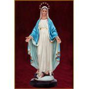Nossa Senhora das Graças 82CM - Resina - manto azul claro - com olhos de vidro