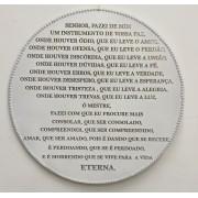Oração de parede - fabricado em madeira e pérolas na circunferência - 40cm