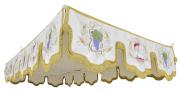 Pallium para 4 ou 6 varas - confeccionado em tecido karstnyl - medidas 1,20m x 2,30m