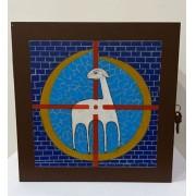 Sacrário de mesa com chave - fabricado em madeira - dimensões 29x29x31 -