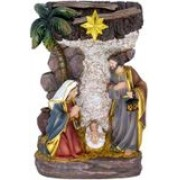Sagrada Família com luz - 20cm - resina