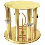Suporte para Ostensório Grande - dourado ou niquelado - altura 19cm - diâmetro 20cm