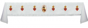 Toalha de Altar bordada - com renda - Sagra Coração de Jesus