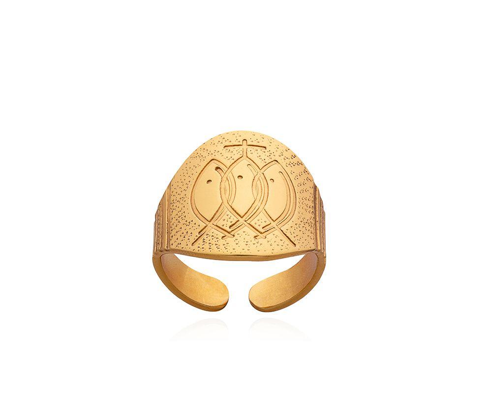 Anel para Bispo - em prata natural ou parta dourada - ajustável
