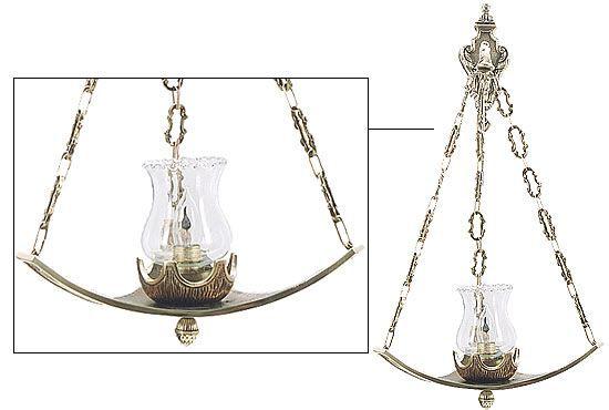 Lâmpada para Santíssimo - modelo estrela - 58x29cm