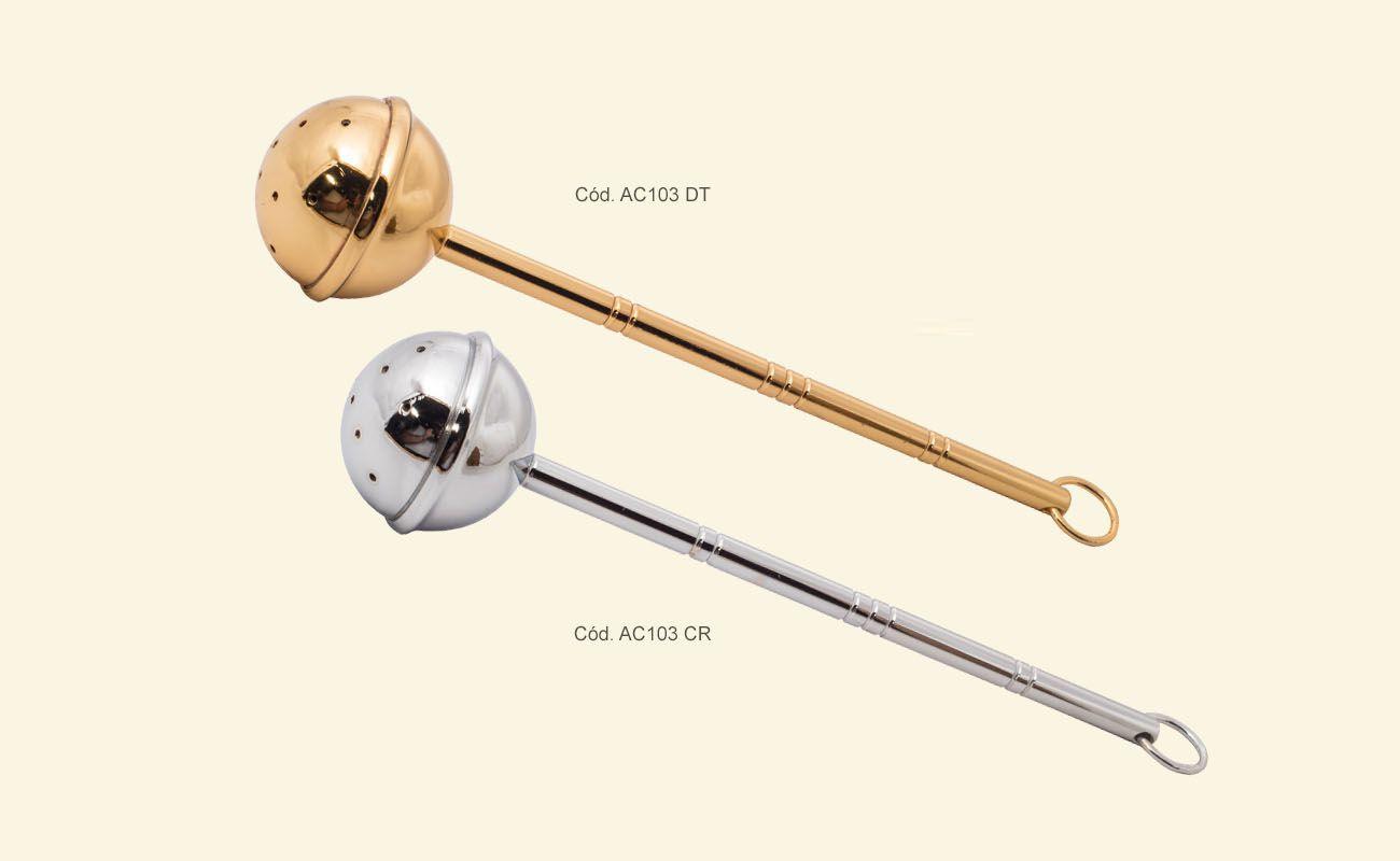 Asperge - dourado ou niquelado - comprimento 21,5cm