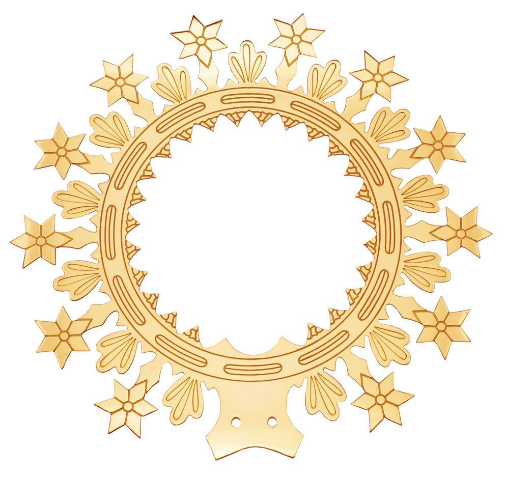 Auréolas com Estrelas - fabricadas em latão  - dourada