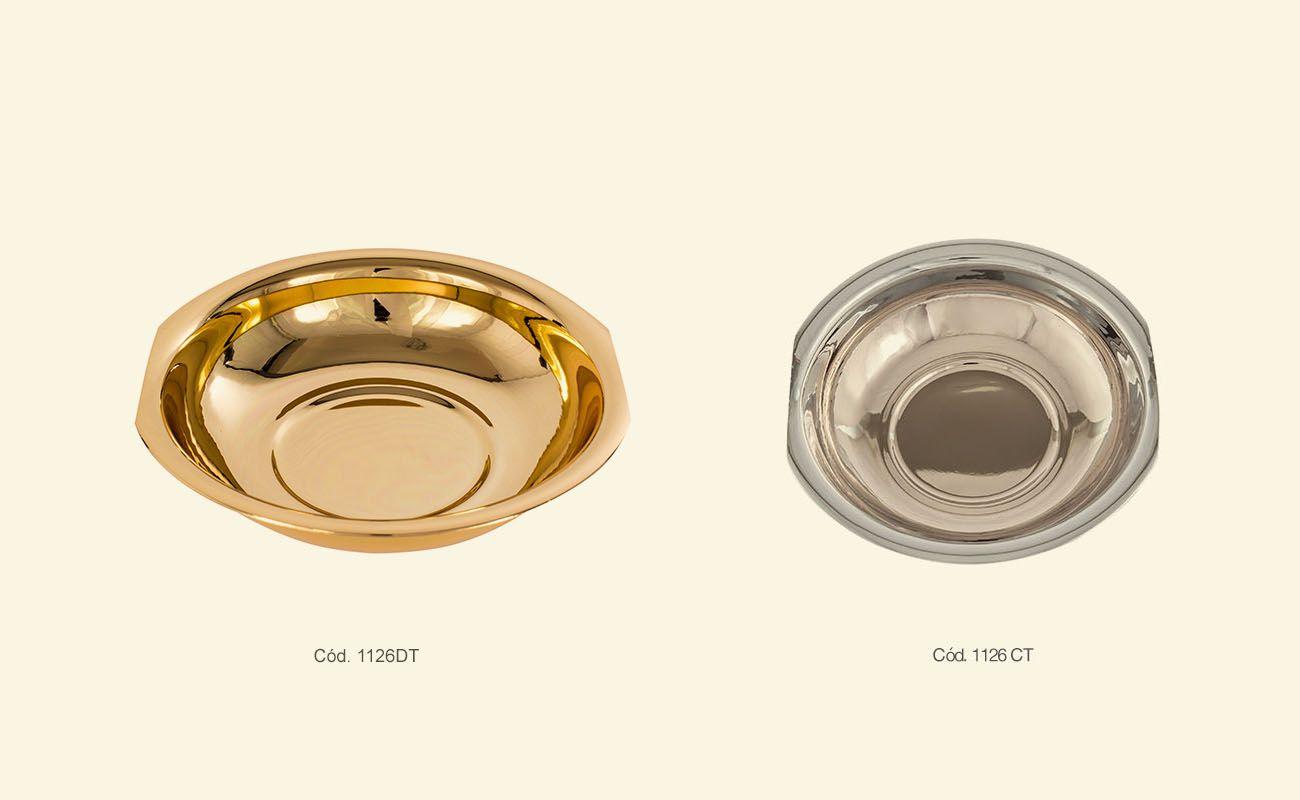 Bacia avulsa - dourado ou niquelado - altura 4,5cm x 16,5 cm diâmetro