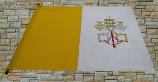 Bandeira do Vaticano - comprimento 1,5M X 1M altura