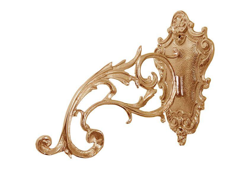 Braço Avulso para Lâmpada do Santíssimo - dourado ou niquelado - em latão fundido