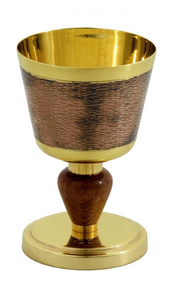 Cálice feito em cobre - altura 15cm - diâmetro da copa 10cm - (acompanha patena)